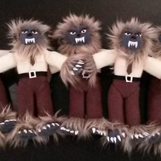 A whole pack of Wolfdolls by Jessica Jeffery @trikucian